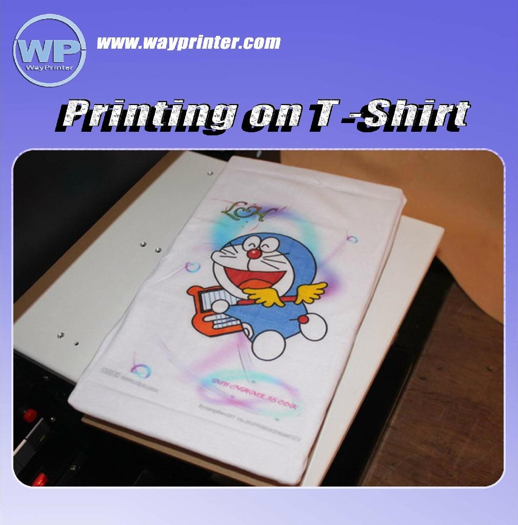 A3 dtg digital flatbed printer for t shirt wp1390 for Trade t shirt printing