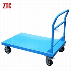 Heavy duty warehousing logistics platform hand trolley
