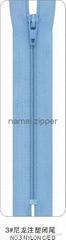 NO.3 Nylon Zipper C/E with plastic stops