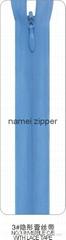 NO.3 Nylon invisible Zipper C/E with lace type