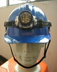 Safety Helmet With Miner's Lamp