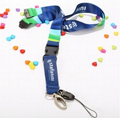 Lanyard Dye Sublimated on to Eco-Friendly  Fabric Indent