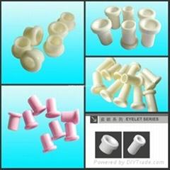 Textile Alumina Ceramic Eyelet (ceramic flanged eyelets)