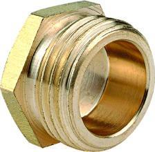 黃銅圈接頭 外螺紋螺帽 1