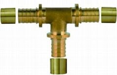 brass equal tee for pex pipes pex fitting tees with sliding sleeves