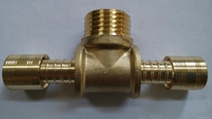 Brass pex fitting male tee connectors