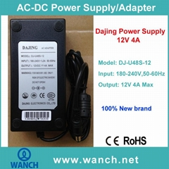 12V 4A Power Supply AC Adapter for LCD/LED Monitor DJ-U48S-12