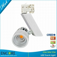 30W DALI Dimming Meanwell Driver CREE COB LED Track Light 90Ra Si  er LED Track