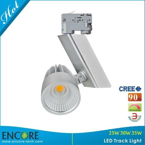 30W DALI Dimming Meanwell Driver CREE COB LED Track Light 90Ra Silver LED Track  4
