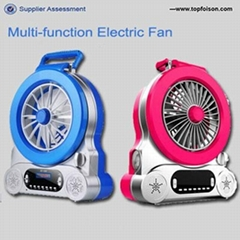 Multi-function electrical panel cooling fan and rechargeable table fan for home