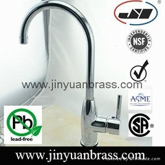 Kitchen Faucets with Lead-Free Brass Mixer Kitchen with Polished