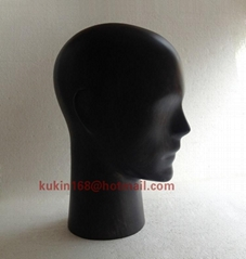 Wooden mannequin head, Vintage style male head model
