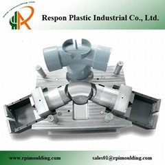 Custom injection plastic pipe fitting mould
