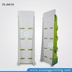 Custom design 4 color printing folded cardboard water floor display