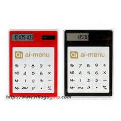 Mini pocket solar calculator with custom your artwork and company logo