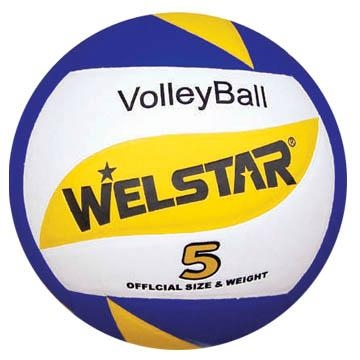 Promotional laminated PU PVC Rubber volleyball 2