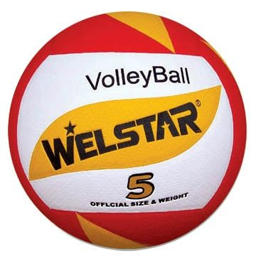 Promotional laminated PU PVC Rubber volleyball 5