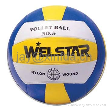 Promotion laminated PU PVC Rubber volleyball 1