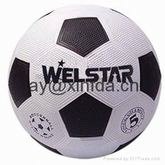 Promotional laminated PU PVC Rubber soccer footballs