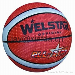 Promotional laminated PU PVC Rubber basketballs