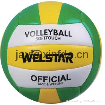 Promotional laminated PU PVC Rubber volleyballs 4
