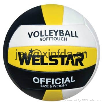 Promotional laminated PU PVC Rubber volleyballs 5
