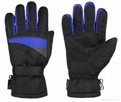 Men's Winter Ski Gloves With Reinforced
