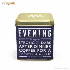 luxury glossy coffee tin box
