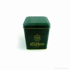 paint green tea tin box