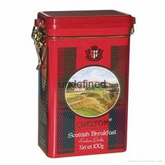 OEM rectangular airtight tea tin box