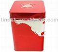 square red tin box
