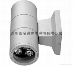 2x3W  Double outdoor wall lamp