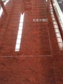 red artificial marble slabs