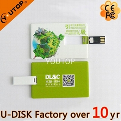 1-64GB Custom Logo Credit Card USB Flash