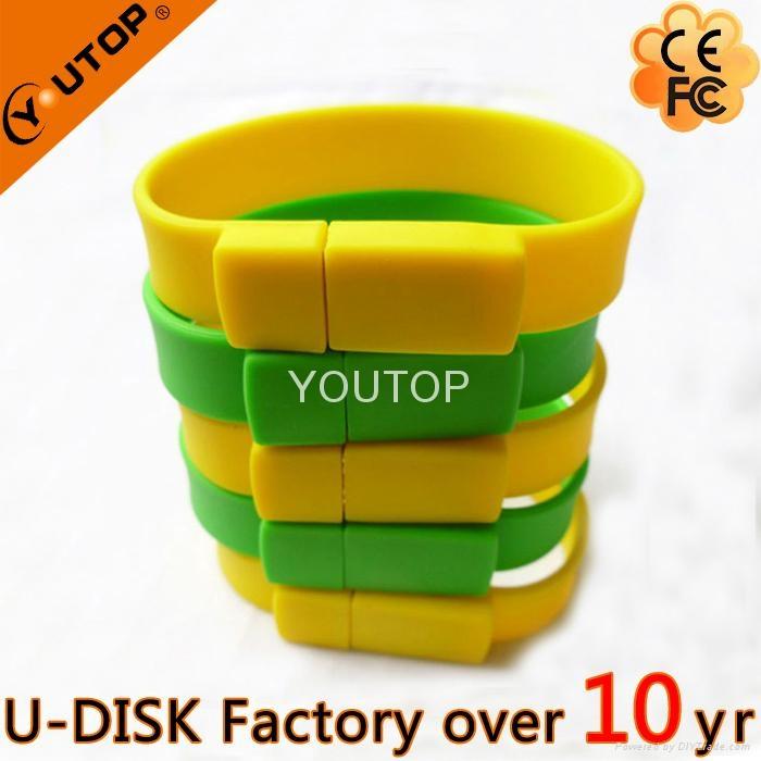 Hot Silicone Bracelet Wrisband USB Flash Drive (YT-6301) 1