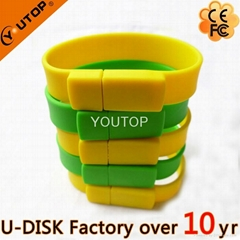 Hot Silicone Bracelet Wrisband USB Flash Drive (YT-6301)