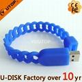 Hot Silicone Bracelet Wrisband USB Flash Drive (YT-6301) 3