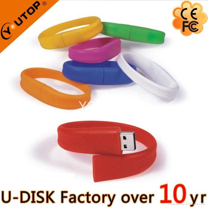 Hot Silicone Bracelet Wrisband USB Flash Drive (YT-6301) 4