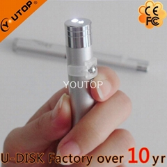 Hot 3 in 1 Executive USB Disk+Light+Laser Pointer (YT-7105)