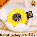 Hot Sunflower Flower Pendant Crystal Jewelry USB Flash Drive (YT-6274) 1