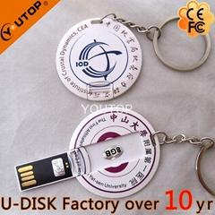 Hot OEM Business Round Card USB Disk (YT-3108)