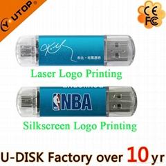 4-64GB Custom Logo OTG Mobile Dual USB Flash Drive (YT-1201-03)