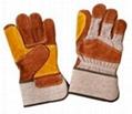 Split leather work gloves 1