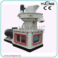 1 ton/hour yulong vertical ring die type wood pellet machine
