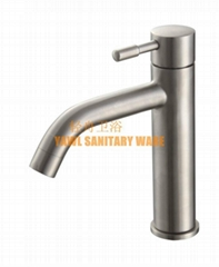 QZ203 single handle cold water faucet 304 stainless steel casting  basin faucet