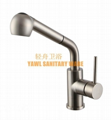 QZ652 304 stainless steel casting kitchen faucet with a drawing component