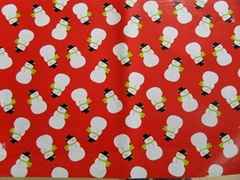 Merry Christmas coated paper with gift wrapping paper