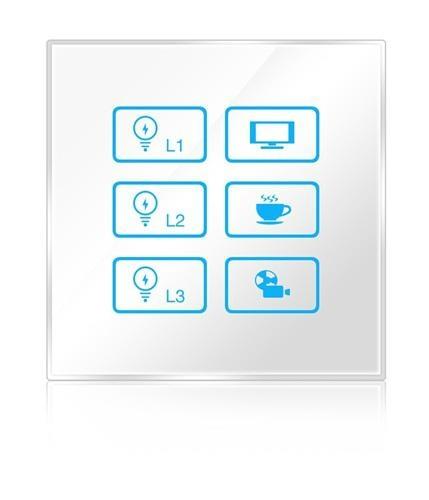 Wireless infrared wifi remote control networking zigbee lighting touch panel swi 1