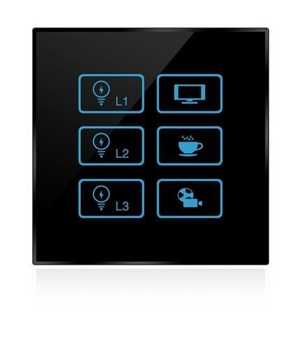 Wireless infrared wifi remote control networking zigbee lighting touch panel swi 3