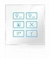 Wireless infrared wifi remote control networking zigbee lighting touch panel swi 4
